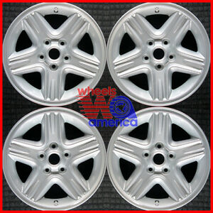 Set 2000 2001 Jeep Cherokee Oem Factory 5gr08ma8aa 16 Silver Wheels Rims 9026
