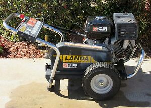 Used Landa Pg4 353245 Gas Engine Cold Water Pressure Washer sn 146934