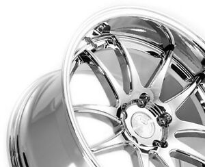 Aodhan Ds02 18x9 5 15 18x10 5 22 5x114 3 Vacuum Chrome Staggered set Of 4