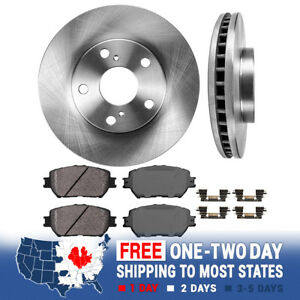 Front Rotors Ceramic Pads For 2002 2003 2004 2005 2006 Toyota Camry Le Se Xle