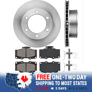 Front Brake Rotors And Ceramic Brake Pads For Toyota 4runner Tacoma