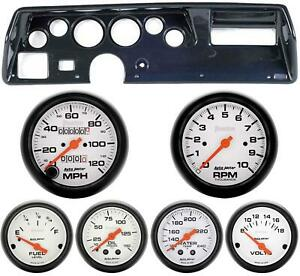 70 72 Chevelle Ss Carbon Dash Carrier W Auto Meter Phantom Mechanical Gauges