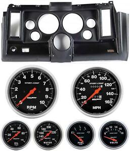 69 Camaro Black Dash Carrier W Auto Meter Sport Comp Mechanical 5 Gauges