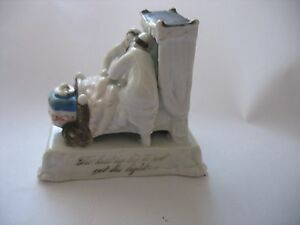 Staffordshire Porcelain Fairing Figurine Last In Bed To Put Out The Light