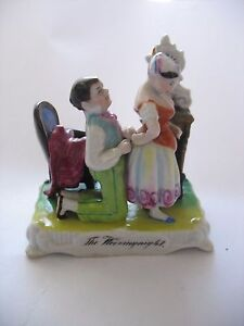 Antique Staffordshire Porcelain Fairing Figurine The Wedding Night