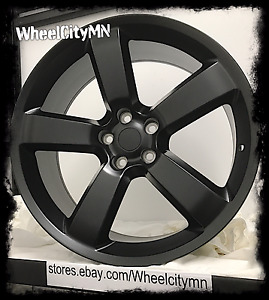 20 X9 Inch Matte Black Dodge Charger Srt Oe Factory Replica Rims 2360 5x115 20