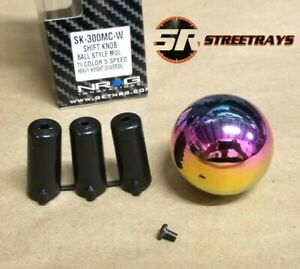 Nrg Shift Knob Ball Style Neochrome Neo Chrome Heavy Weight Universal 5 Speed