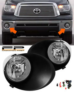 07 13 Toyota Tundra Clear Fog Lights Lamp Full Complete Kit metal Bumper Only