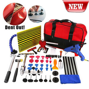 Set 65x Paintless Hail Repair Dent Puller Lifter Tools Auto Body Removal Kit