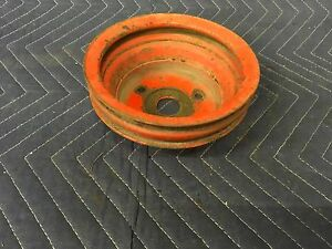 Small Block Chevy Crankshaft Dual Groove Pulley Nice 283 302 327 350 400 13