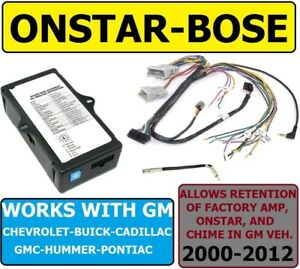 Bose Onstar Adapter For Gm Car Truck Suv Van Car Radio Stereo Installation
