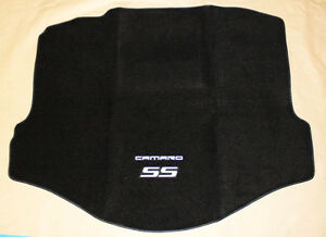 New Black Trunk Mat 2010 2015 Camaro Embroidered Double Logo And Ss In Silver