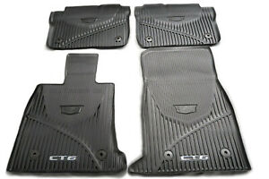 84025489 2016 2019 Cadillac Ct6 Oem Black Front Rear Rubber Floor Mats New