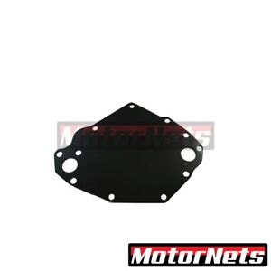 Black Aluminum Sb Ford 351c Electric Water Pump Backing Plate Sbf Cleveland