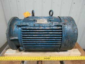 30 Hp Ac Electric Motor C face 875 Rpm 3ph 60hz Tested