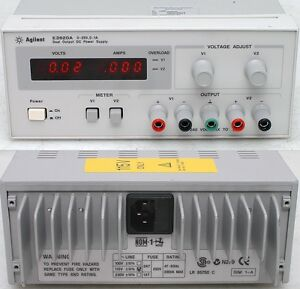 Agilent Hp E3620a 50w Dual Output Bench Dc Power Supply 0 25v 0 1 Amp