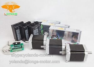 Us Free Ship 3axis Nema34 Stepper Motor Dual 878oz Driver Cnc Router Kit