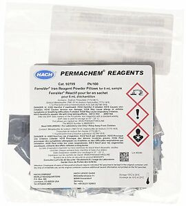 Hach 92799 Ferrover Iron Reagent Powder Pillows 5 Ml Pack Of 100