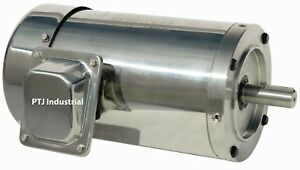 2 Hp Electric Motor 56c Stainless Steel Washdown 3 Phase 3600 Rpm Premium