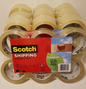 24x Rolls Scotch Shipping Tape Packaging Tape Commercial Grade 1 88in X 38 2yd