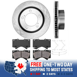 Front Brake Rotors And Ceramic Pads For 2007 2008 2009 2010 2011 2018 Tundra