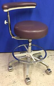 Dental Assistants Stool With Adjustable Arm