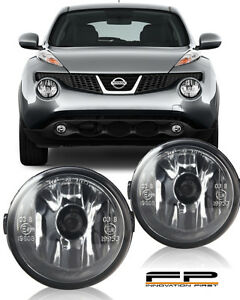 For 2011 2014 Nissan Juke Clear Lens Replacement Fog Light Housing Assembly Pair