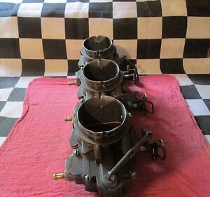 3 Used Stromberg Nostalgia Racing Carburetor Carb Tri Power 3 Duces Street Racer