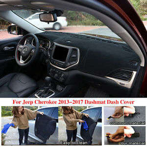 Fits For Jeep Cherokee 2013 2017 Dashmat Dash Cover Mat Dashboard Black