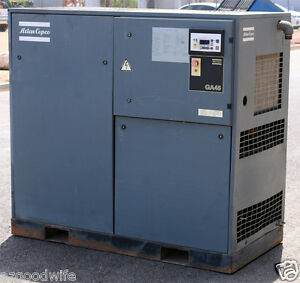 Atlas Copco Compressors Inc Ga45 60hp Air Compressor