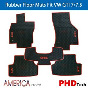 Tailor Made All weather Rubber Floor Mats For Vw Golf Gti Mk7 Mk7 5 2013 2019