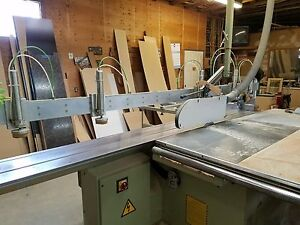 Sliding Panel Saw With Pnumatic Holddowns