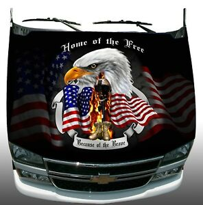 Soldier Freedom Home Of Brave Hood Am Flag Wrap Sticker Vinyl Decal Graphic