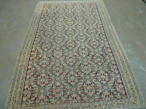 4 X 7 Antique Hand Made Persian Wool Kilim Senneh Flat Weave Rug Kurd Sajadeh