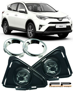 For 2016 2017 Toyota Rav4 Clear Lens Fog Lights Lamp Complete Kit Switch harness