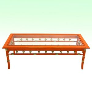 Vintage Palm Beach Style Coffee Table Orange Gloss Coffee Table Marked Lane