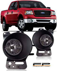 For 2006 2007 2008 Ford F150 Clear Replacement Fog Lights Housing Assembly Pair