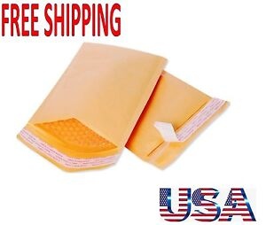 Lots Kraft Bubble Mailers Padded Envelopes Size 000 4 X 8