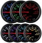 52mm Glowshift Black 7 Color Led Tachometer Tach Gauge Gs C710