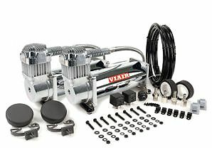 Viair 450c Chrome Air Compressor Dual Pack Air Ride Bagged