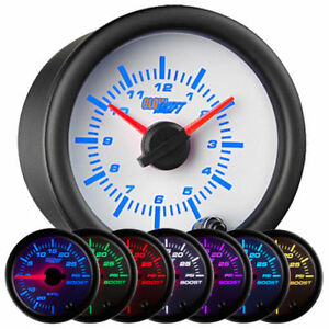 Glowshift White 7 Color Analog Clock Gauge 52mm Gs W718