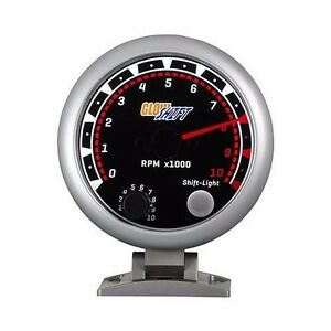 95mm Or 3 34 Glowshift Tinted Tachometer With Shift Light Gauge Gs T09