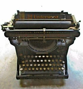 Antique 1920 S Underwood No 3 Standard Vintage Typewriter 12 Serial 159031