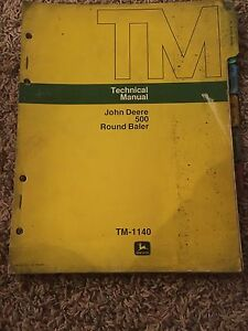 John Deere Technical Manual For 500 Round Baler