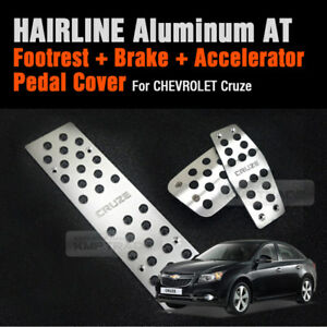 Automatic Car Hairline Aluminum Foot Pedal Cover For Chevrolet 2008 2018 Cruze