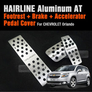 Automatic Car Hairline Aluminum Foot Pedal Cover For Chevrolet 2010 18 Orlando