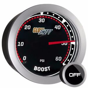 52mm Tinted Glowshift 0 60 Psi Diesel Turbo Boost Pressure Gauge Gs T0160