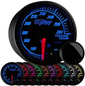 52mm Glowshift Black Elite 10 Color Electric Trans Temp Gauge Gs Et12