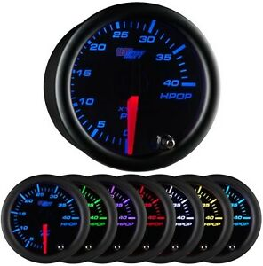 Glowshift 52mm Black 7 Color Hpop High Pressure Oil Pressure Gauge Gs c721