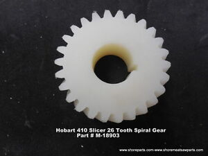 Hobart Model 410 Slicer 26 Tooth Spiral Drive Gear Part M 18903 New